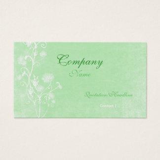 Elegant green and white Business Card Template