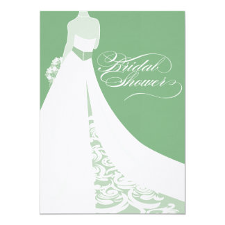Elegant Green Bridal Shower Invitation