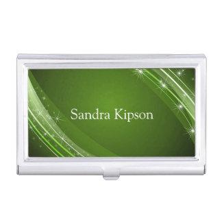 Elegant Green Business Card Holder