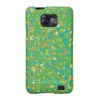 Elegant Green Confetti TEMPLATE Add text image fun Samsung Galaxy S2 Case