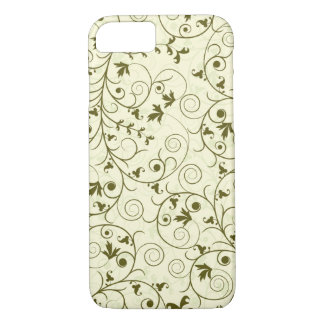 Elegant green floral Pattern Design iPhone 7 Case