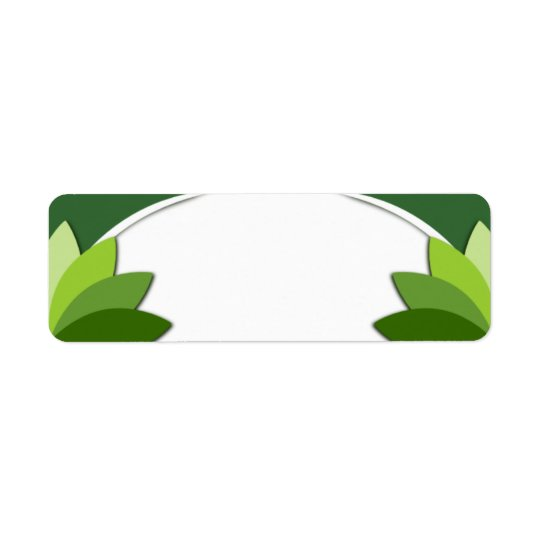 Elegant Green Florals Template Return Address Label