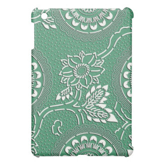 Elegant green flower japanese pattern case for the iPad mini