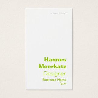 Elegant Green Latitude and Longitude Business Card