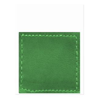 Elegant Green : Leather Look Artistic Gifts Postcard