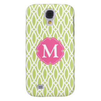 Elegant Green Modern Trellis Personalized Galaxy S4 Case
