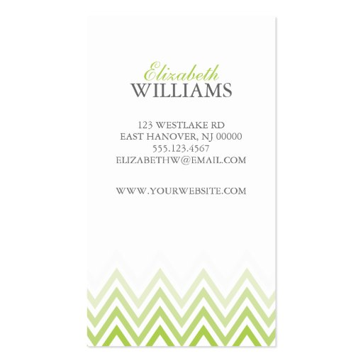 Collections of Chevron Zigzag Pattern Business Cards