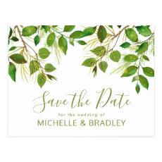 Elegant Greenery Botanical Foliage Save the Date