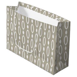 Elegant Greige - Grey and Beige Decor Large Gift Bag