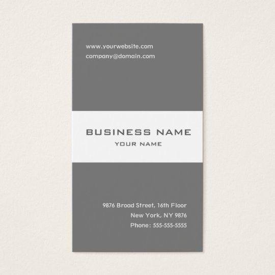 Elegant grey and white striped business card