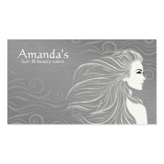 Elegant Grey Curves Hair & Beauty Salon Card Pack Of Standard Business Cards