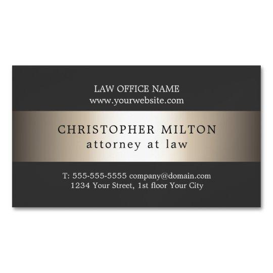 Elegant Grey Faux Gold Stripe Attorney at law