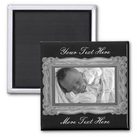 Elegant Grey Frame Magnet