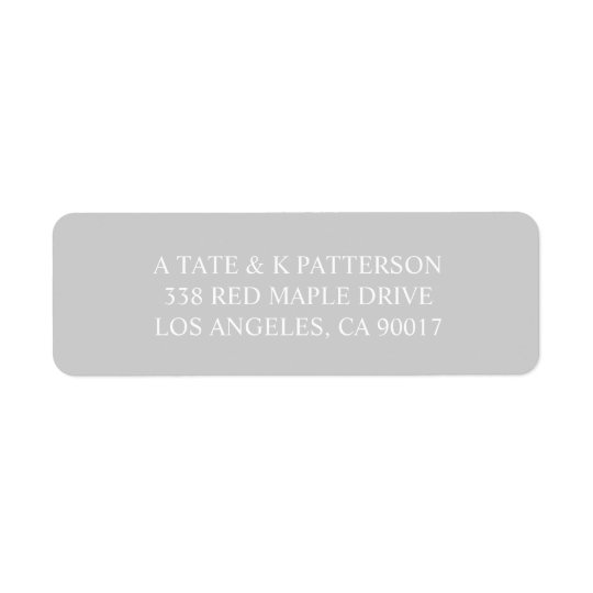 Elegant grey invitation return address labels