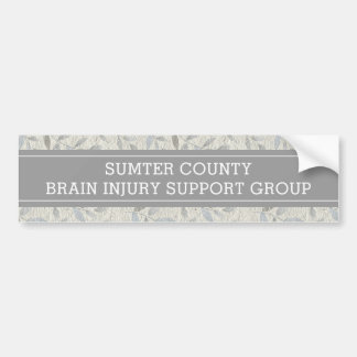 Elegant Grey Leaves Personalised Support Group Bumper Sticker