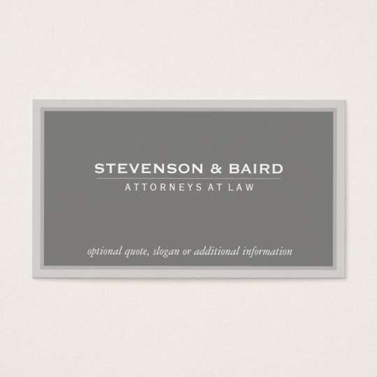 Elegant Grey Professional Consultant Classic Business Card