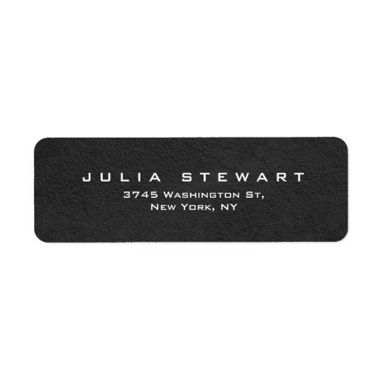 Elegant Grey Professional Modern Personal Return Address Label