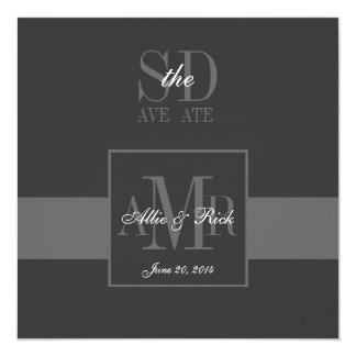 Elegant Grey Save the Date Wedding Announcement