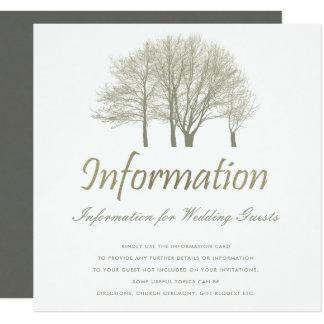 ELEGANT GREY SILVER FALL AUTUMN TREES  INFORMATION CARD