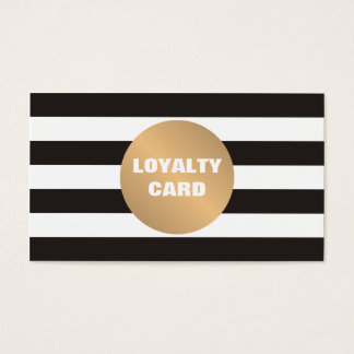 Elegant Grey Striped Copper Beauty Loyalty Card