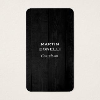 Elegant Grey Wood Plain Modern Minimalist Business Card
