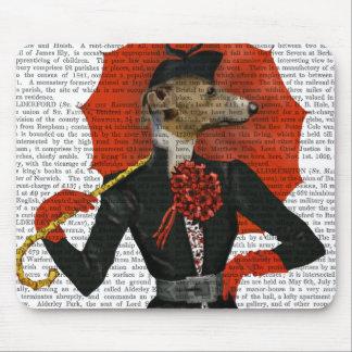 Elegant Greyhound and Red Umbrella 2 Mouse Mat