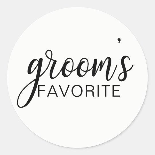 Elegant GROOM's FAVORITE Wedding Gift Favours Classic Round