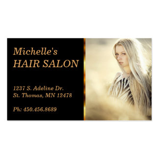 Elegant Hair Salon Pack Of Standard Business Cards