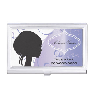Elegant Hair Salon Stylist Case For Business Cards