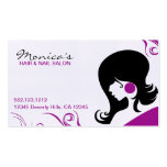 Elegant Hair Salon w/ Appointment Date Business Card Templates