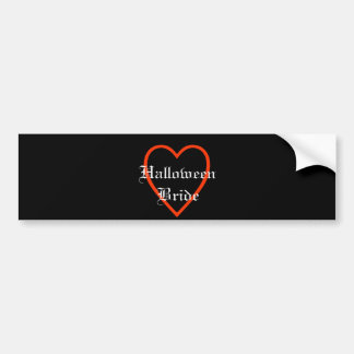 Elegant Halloween Bride Bumper Sticker