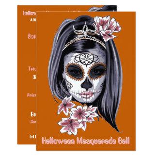 elegant halloween cinco de mayo sugar skull 2 card