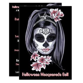 elegant halloween cinco de mayo sugar skull card