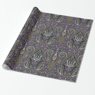elegant Halloween damask wrapping paper