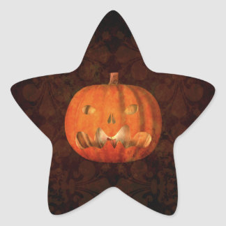 Elegant Halloween jack o lantern Stickers