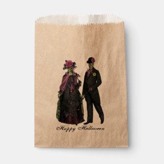 Elegant Halloween Skeleton Couple Favour Bags