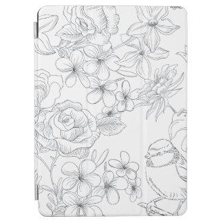 Elegant Hand-drawn Floral Design iPad Air Case iPad Air Cover