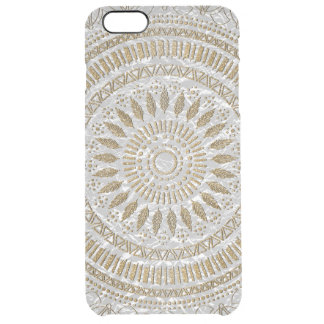 Elegant hand drawn tribal mandala design clear iPhone 6 plus case