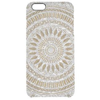 Elegant hand drawn tribal mandala design clear iPhone 6 plus case