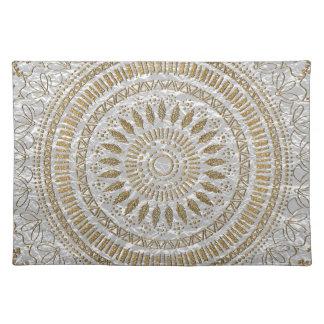 Elegant hand drawn tribal mandala design placemat