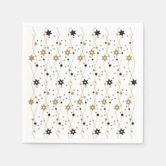 Elegant Hanukkah Stars Paper Napkin