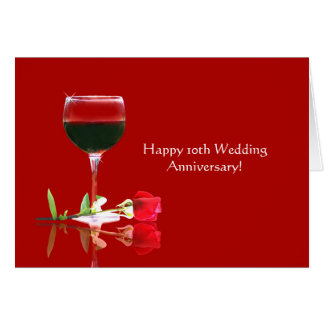 Elegant Happy 10th Wedding Anniversary Card