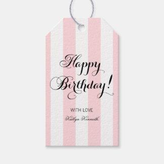 Elegant Happy Birthday Gift Tags
