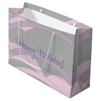 Elegant Happy Birthday Large Gift Bag