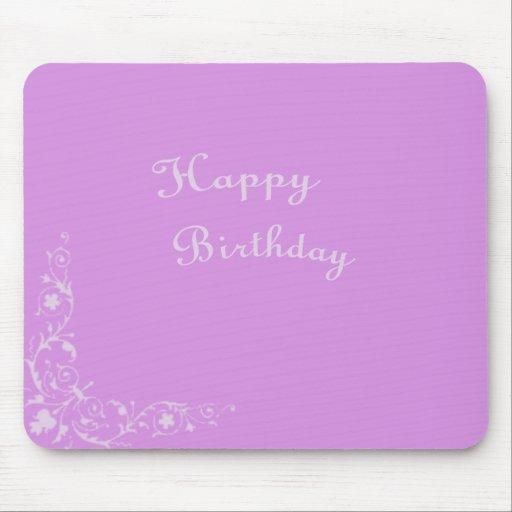 Elegant Happy Birthday Mouse Pads