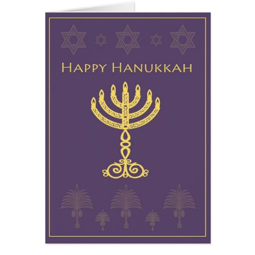 Elegant happy hanukkah card