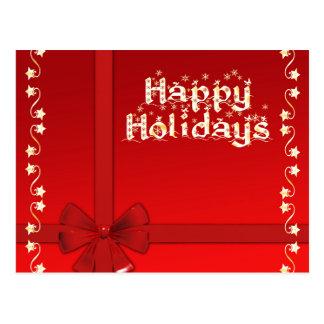 Elegant Happy Holidays Postcard