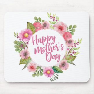 Elegant Happy Mother's Day Floral | Mousepad
