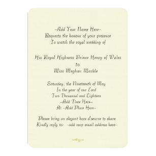 Royal Wedding Watch Party Invitations Announcements Zazzlecouk