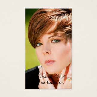 Elegant Headshot Business Card